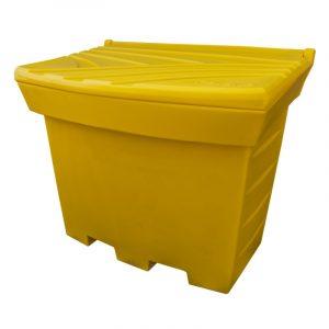 Duży pojemnik na piasek i sól 500l żółty