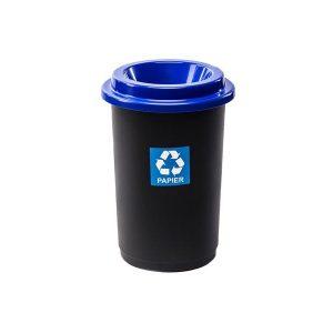 Kosz do segregacji odpadów Eco Bin 50l z niebieską pokrywą na papier