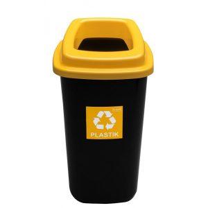 Kosz do segregacji odpadów Sort Bin 45l z żółtą pokrywą na plastik