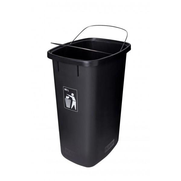 Kosz do segregacji odpadów Sort Bin 90l z uchwytami mocującymi worek na śmieci