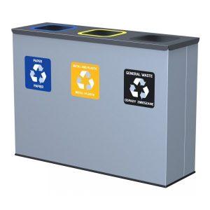 3-komorowa stacja do segregacji odpadów Eko Station Alda