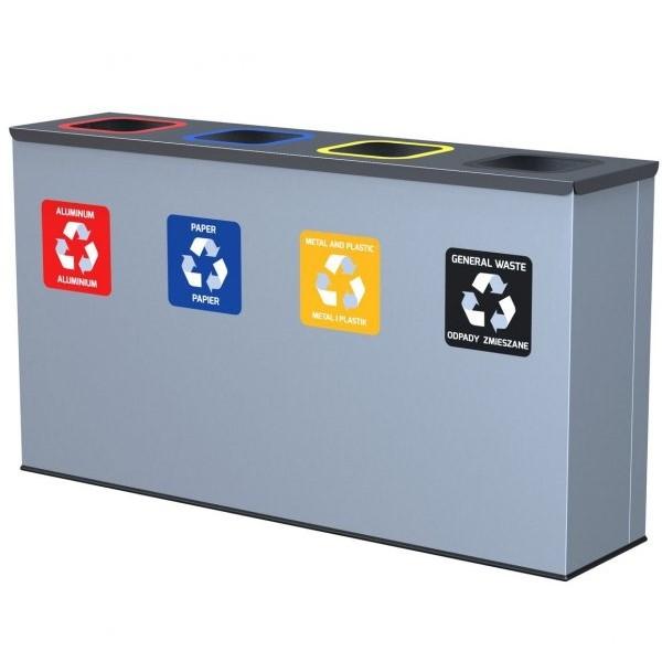 4-komorowa stacja do segregacji odpadów Eko Station Alda