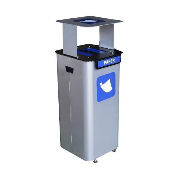 Kosz modułowy do segregacji odpadów modular 70l z daszkiem - papier