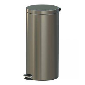Metalowy okrągły kosz na śmieci z pedałem Standard Freedom Fresh 30l satyna