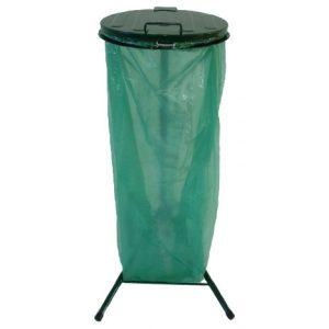 Metalowy stojak na worki na śmieci IP1M na nóżkach