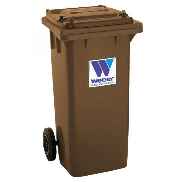 Pojemnik na odpady Weber 120l brązowy