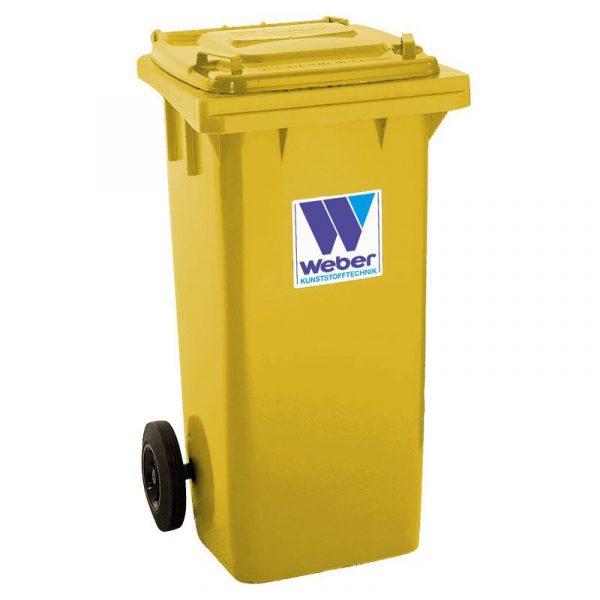 Pojemnik na odpady Weber 120l żółty