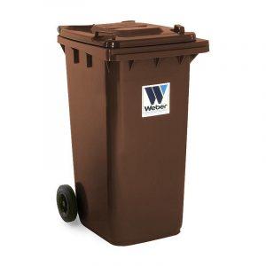 Pojemnik na odpady Weber 240l brązowy