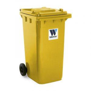 Pojemnik na odpady Weber 240l żółty