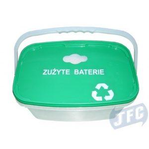 Plastikowy pojemnik na zużyte baterie 5l lub 10l z rączką