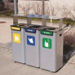stacja-3-modulowa-do-segregacji-odpadow-modular-z-daszkiem-na-zewnatrz