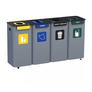 Stacja 4-modułowa do segregacji odpadów Modular