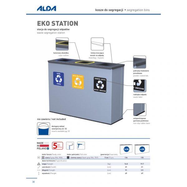Stacja do segregacji odpadów Eko Station Alda