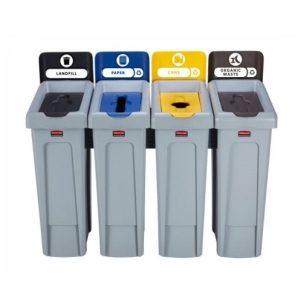 Stacja do segregacji odpadów Slim Jim 4 x 60l