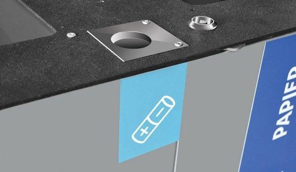 Pojemnik na zużyte baterie do stacji modułowej do segregacji odpadów Modular