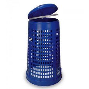 Ażurowy stojak na worki na śmieci Ruff niebieski