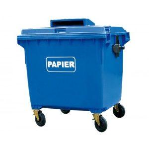 Pojemnik do segregacji papieru Weber 1100l niebieski