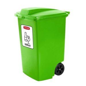 Pojemnik na odpady Curver 100l zielony na szkło