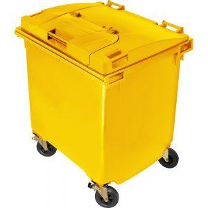 Pojemnik na odpady Weber 1100l pokrywa w pokrywie żółty