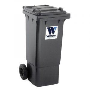 Pojemnik na odpady Weber 80l grafitowy