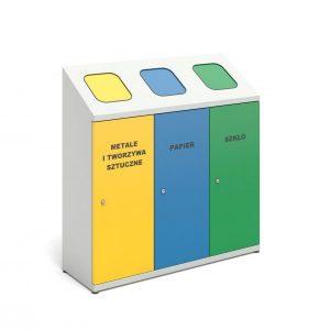 Stacja do segregacji wewnętrznej 3-komorowa kolorowa