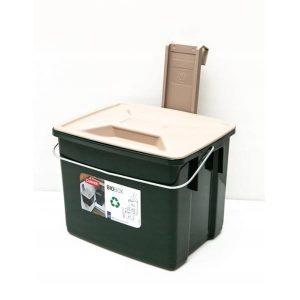 Kosz na odpady organiczne BioBox 6l z pokrywką i listwą mocującą