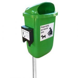 Kosz na psie odchody As 50l z zestawów higienicznych zielony