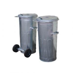Metalowy pojemnik na odpady 110l
