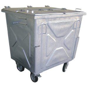 Metalowy pojemnik na odpady z pokrywą trójdzielną 1100l