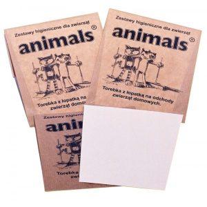 Papierowe zestawy higieniczne na psie odchody