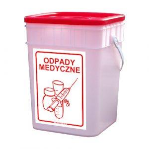 Półprzezroczysty pojemnik na odpady medyczne 15l