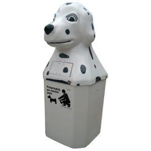 Kosz na psie odchody Dalmatyńczyk 50l biały