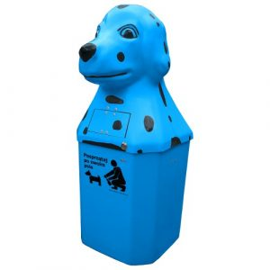 Kosz na psie odchody Dalmatyńczyk 50l niebieski