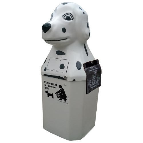 Kosz na psie odchody Dalmatyńczyk 50l z uchwytem