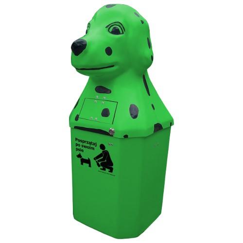 Kosz na psie odchody Dalmatyńczyk 50l zielony