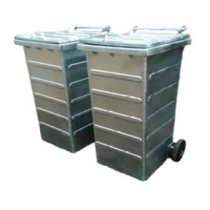 Metalowy pojemnik na odpady 120l / 240l