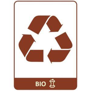 Naklejka na kosz do segregacji bio