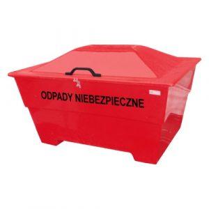 Pojemnik na odpady niebezpieczne 450l czerwony