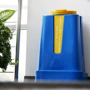 Pojemnik do segregacji Jedynak Mini 120l żółty na metale i tworzywa sztuczne