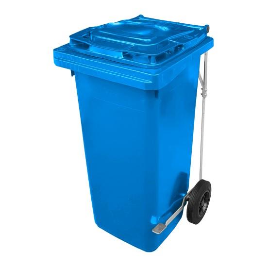 Pojemnik na odpady z pedałem 120l niebieski