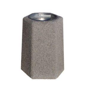 Kosz betonowy sześciokątny 40l model 101