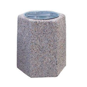 Kosz betonowy sześciokątny 40l model 103