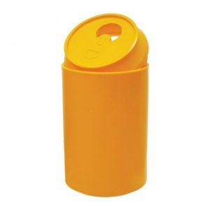 Pojemnik do segregacji odpadów w kształcie puszki Puszka 170l żółty
