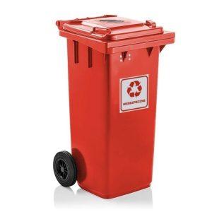 Pojemnik na odpady niebezpieczne Weber Safe 120l / 240l czerwony