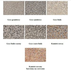 Kolory koszy betonowych