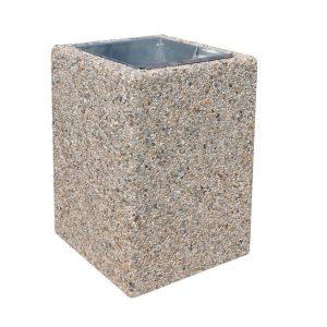 Kosz betonowy kwadratowy 40l model 127