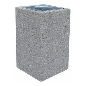 Kosz betonowy kwadratowy 70l model 140