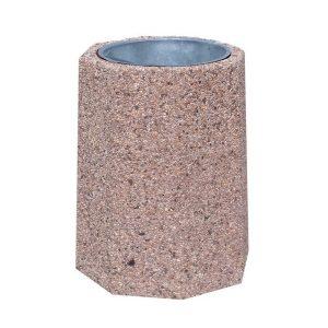Kosz betonowy ośmiokątny 40l model 107