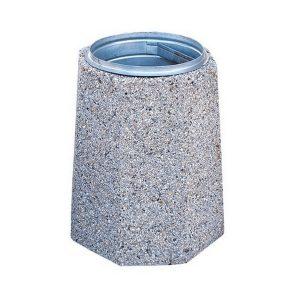 Kosz betonowy ośmiokątny 70l model 109
