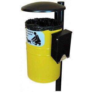 Kosz na psie odchody Karo 35l z podajnikiem papierowych zestawów higienicznych